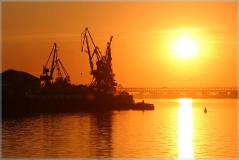 Фотографии закатов. Стрелка Нижний Новгород