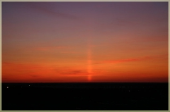 Фотографии закатов. Световые столбы. Морозный вечер