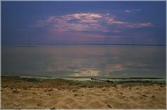 Красивое фото заката над Горьковским морем. Пансионат Буревестник