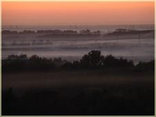 Фотографии закатов. Слушать туман туманище. Розовый туман