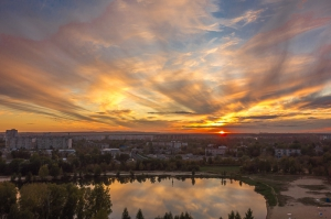 Фотография красивого заката. Последний день сентября