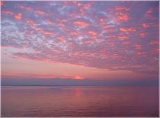 Фото заката на море. Горьковское море. Вечерний пейзаж. Красивые фото закатов