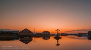 Закат на Соловецких островах. Гавань благополучия