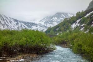 Паратунка на фоне камчатских гор