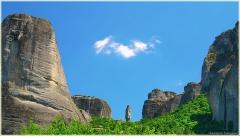 Одинокая скала. Палец. Скалы Метеоры. Греция
