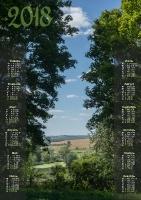 Вертикальный календарь формата А3. Скачать
