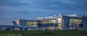 Фото вечернего аэропорта Стригино. Нижний Новгород
