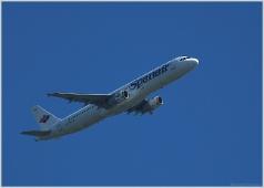 Spanair. Airbus. Фото пассажирских самолетов в небе