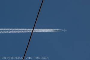 Два самолета в небе