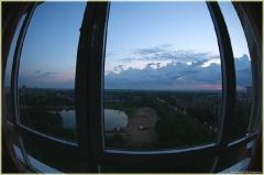 Необычные фото. Вид из окна, снятый фишаем