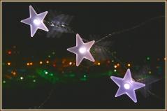 Фото звезд. Звезда на стекле на фоне заката