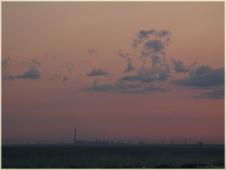 Облака после заката. Летний вечер. Фото неба и облаков
