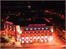 Ночная фотография центрального универмага в Нижнем Новгороде