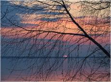 Горьковское море. Пансионат Буревестник. Закат. Вечерний пейзаж