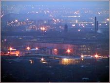 Ночная фотография. Промзона. Заречная часть Нижнего Новгорода