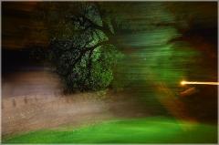 Необычная ночная фотография. Съемка подвижной камерой с остановкой