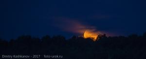 Летний вечер. Восход Луны