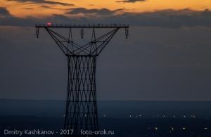 Фото башни Шухова на Оке. Вечернее фото