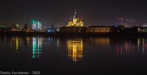 Ночное фото. Собор Александра Невского