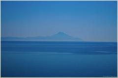 Синяя фотография. Гора Святой Афон