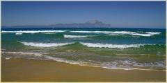 Золотой пляж. Гора Святой Афон. Греция