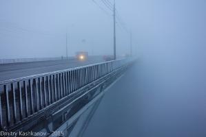 Сильный туман. Фото Канавинского моста