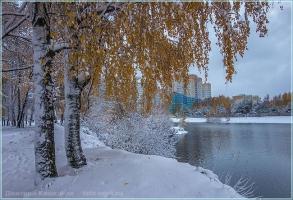 Осень в Нижнем Новгороде. Первый снег