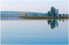 Утренние пейзажи. Тихое летнее озеро