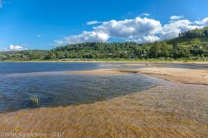 Песчаные отмели. Летние фото с рекой. Город Горбатов