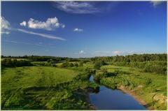 Река Суворощь. Фото с моста. Летний пейзаж с рекой. Красивые фото лета