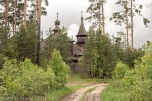 Храм Святой Троицы. Церковь в сосновом лесу