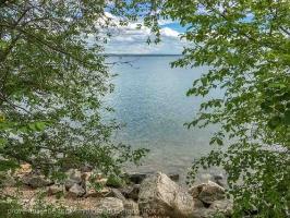 Иркутское водохранилище. Вид из пикник-парка Якоби. г. Иркутск