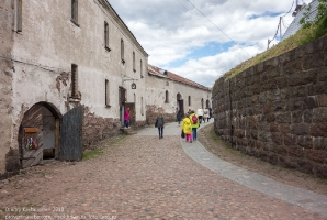 Внутренний двор Выборгского замка. Дорога к башне Олафа