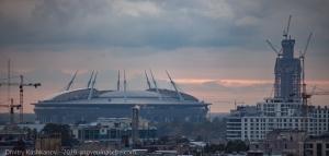 Зенит-Арена и Лахта. Фото 2016 г.