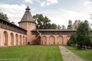 Кепостная стена. Спасо-Ефимьев монастырь. Суздаль. Фотографии