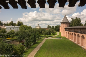 Вид с крепостной стены. Спасо-Ефимьев монастырь. Суздаль. Фотографии