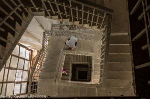 Винтовая лестница в башне Преподобенской колокольни. г. Суздаль