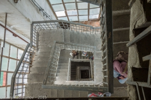 Фотографии Суздаля. Лестница внутри Преподобенской колокольни