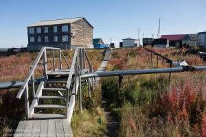 Деревянные тротуары заполярного поселка