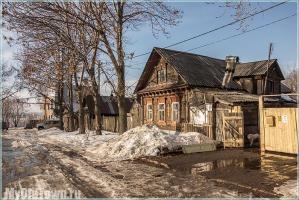 Улица Горького. Нижний Новгород. Деревянные дома