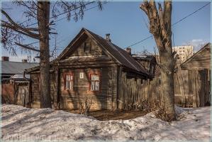 Улица Горького, дом 6. Нижний Новгород. Деревянные дома