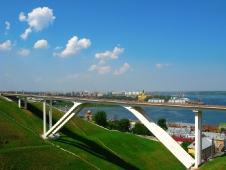 Пешеходный мостик. Достопримечательности Нижнего Новгорода.