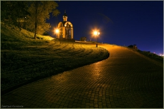 Ночной Нижний Новгород. Фото города