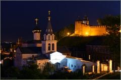 Ночной Кремль. Церковь