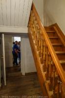 Лестница на второй этаж в господском доме. Усадьба Пушкина в Болдино