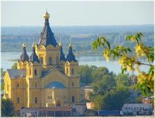 Виды Нижнего Новгорода. Собор Александра Невского