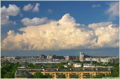 Фото неба с облаками. Облака над городом
