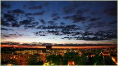 Фото ночного Нижнего Новгорода. Свет в окне