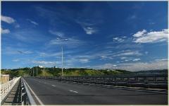 Нижегородский метромост. Вид на автодорогу. Фото Нижнего Новгорода