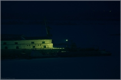 Стрелка. Полночь. Ночное фото Нижнего Новгорода. Фотография Стрелки